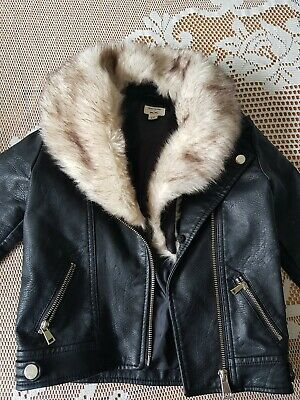 Girls River Island Aged 2-3 Leather Jacket