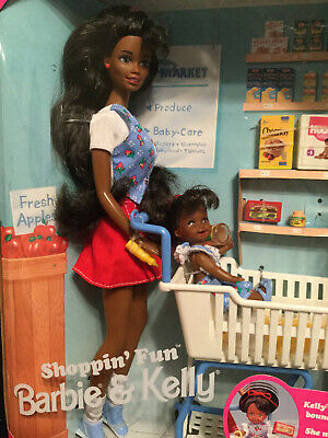 Aa Shoppin' Fun Playset Barbie & Kelly Dolls 15757 Mattel 1995
