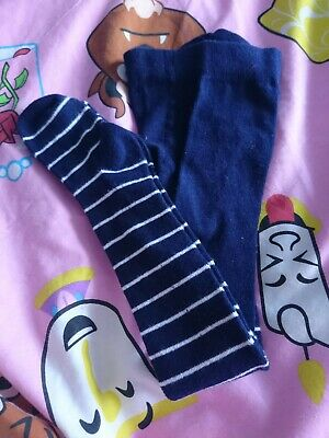 Blue And White New Tights Age 2-3