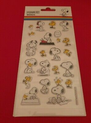 Official Peanuts Snoopy and Woodstock Sticker Sheet 3D Raised Stickers