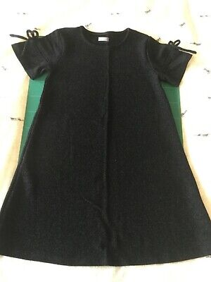 Next Girls Shiny Black Party Dress. Age 9 years. Height 134cm