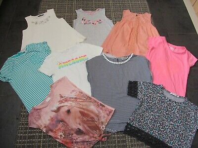bundle of girls size 8-9 years summer tops, fat face, next, f&f