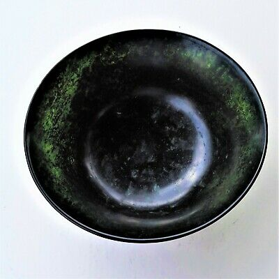 Chinese Siberian spinach green nephrite bowl
