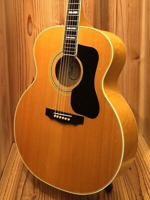 Guild F 50 Bld 1977 Vintage Maple Side Back Neck Heavy Sound With Video