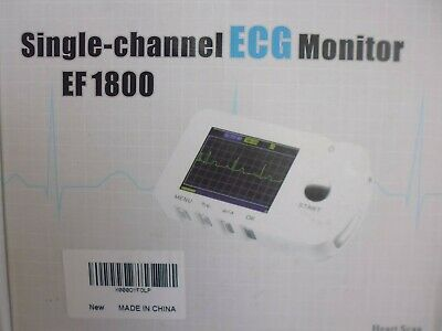 Single Channel ECG Heart Monitor EF-1800 New and Boxed