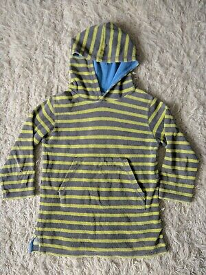 Mini Boden Towelling Hoodie Age 5-6 Yellow and Grey