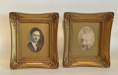 """Pair of Vintage 6"""" by 7"""" Gold Color Ornate Picture Frames"""