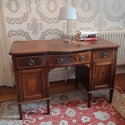 Vintage Antique Writing Desk with drawers and storage beautiful inlaid wood