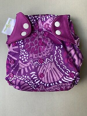 Limited Edition Bumgenius Freetime Patch Print Reusable Nappy, Preloved