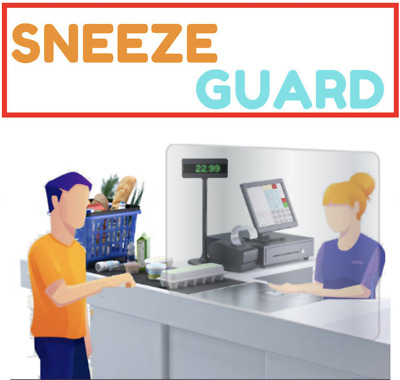 Countertop/cashier sneeze guard, keep your employees and customer safe!!