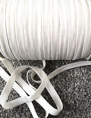 3 m GOOD STRONG QUALITY FLAT WOVEN ELASTIC BLACK & WHITE 10mm 12mm