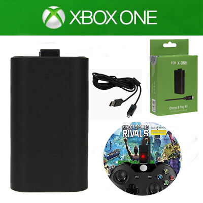1400mAh Rechargeable Battery Pack + USB Cable For Xbox One Wireless Controller