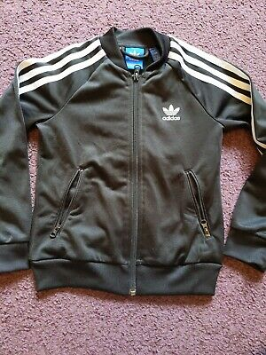 ADIDAS Girls Tracksuit Top Age 6-7 Years