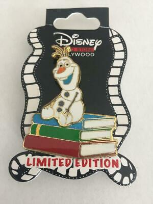 Disney Pin Olaf Double Layered Pin Sitting On Books- From Frozen- 1 Pin As Shown