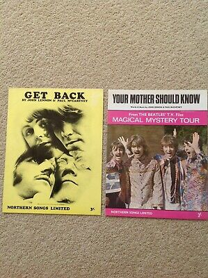 The Beatles Sheet Music. Get Back and Your Mother Should Know.