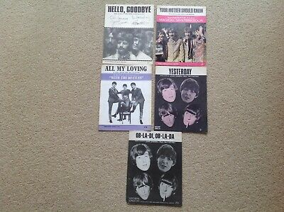 The Beatles Sheet Music. 5 sheets incl Hello, Goodbye, All My Loving, Yesterday