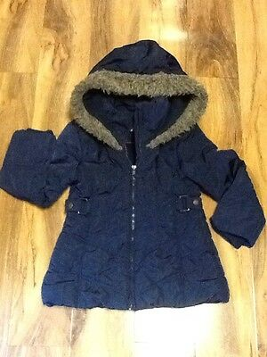 Jasper J Conran Girls Dark Navy  Padded Jacket Aged 6-7 Years Old