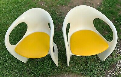2 Casala Mid Century  Modern Chairs 1972~ Made In Germany