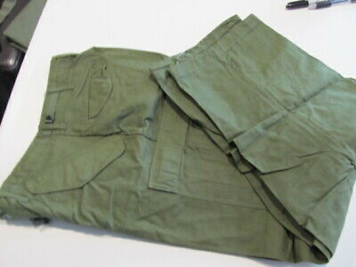 U.S. MILITARY TROUSERS COLD WEATHER SATEEN SMALL/ REGULAR 1976 POST VIETNAM  ss