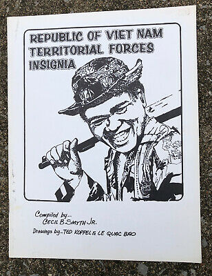 Cecil B Smyth Republic Of Vietnam Territorial Forces Insignia Booklet 1970's