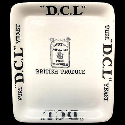 English Ironstone DCL YEAST Dairy Distillery Butter Grocer Stand c1900