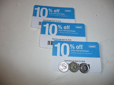 Twenty (20) LOWES Coupons 10% OFF At Competitors ONLY Home Depot Exp MARCH 2021
