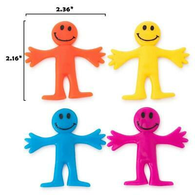 4 -144Pcs Stretchy Men Assorted Colour Kids Birthday Party Loot Bag Fillers Toys