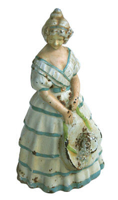 Antique  Doorstop, Victorian Lady, Original Paint