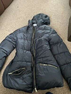 M&S Girls Coat Jacket Puffer Padded Quilted School Smart Hood 15-16 Years