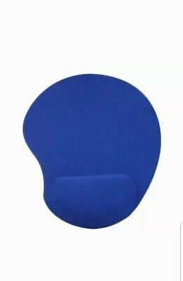 Blue Anti-Slip Mouse Mat Pad With Wrist Support Pc & Laptop