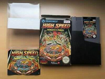 Nintendo NES High Speed Pinball ESP CIB