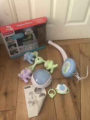 Fisher-Price CDN41 Butterfly Dreams 3-in-1 Crib Projection Mobile