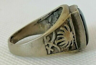 Rare Extremely Ancient Roman Ring Silver Color Authentic Artifact Stunning
