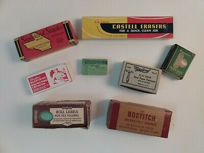 Lot Vintage Office Supplies Staples Bostitch Swingline Markwell