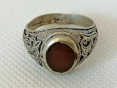 Extremely Rare Ancient Roman Ring Silver Color Artifact Authentic Amazing