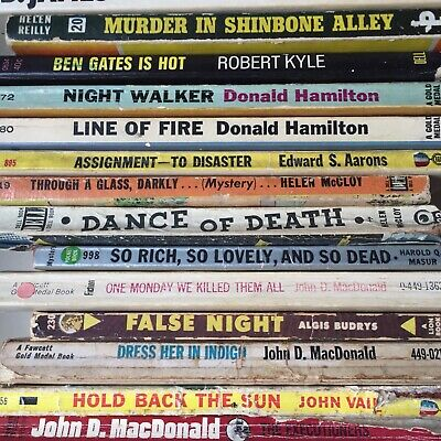 Lot of 22 Vintage Paperbacks - Detective/Crime/Mystery - Gold Medal/Map Backs