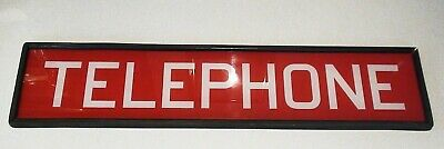 Vintage Telephone ~ Original ~ Reverse Painted Glass Telephone Booth Sign