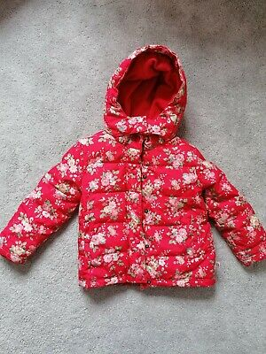 Cath Kidston 2-3 years girls' red floral coat