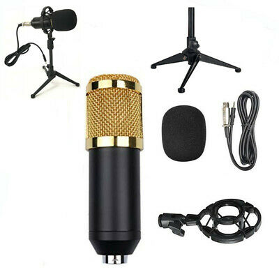 BM800 Condenser Microphone Kit Studio Tripod Stand Sound Card Mic Shock Mount