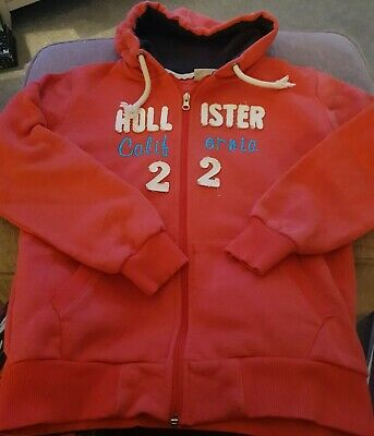 Girls Hollister Coral Hoodie -  Size: 152 Approx  Age 10