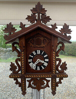 Hubert Herr Black Forest Cuckoo Clock *Project* Requires Weights + Pendulum
