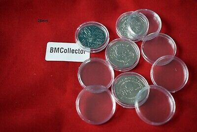 COIN CAPSULES - popular sizes from 28mm / 29mm / 39mm
