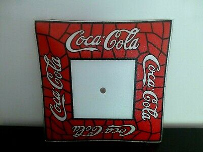 """Vtg Tiffany Style Coca-Cola Ceiling Light Shade Glass Lamp Cover Fixture 14"""""""