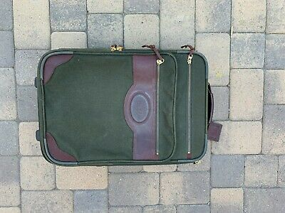 "Vtg Orvis Battenkill Rolling Luggage Expandable 22"" Carry On"