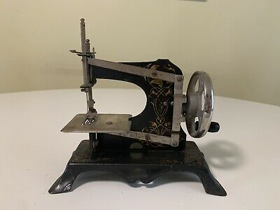 Antique Minature Hand Crank Sewing Machine Toy Made In Germany