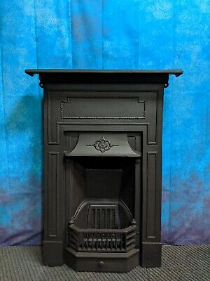 antique cast iron fire  woodburning   DELIVERY FREE OR most £35 Uk
