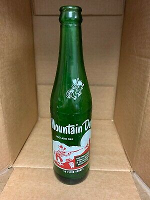 "VINTAGE HILLBILLY MOUNTAIN DEW 10oz NAMED SODA BOTTLE ""BUD AND BILL"" 1965 NICE!"