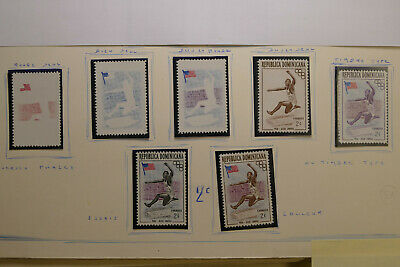REPUBLICA DOMINICANA-1957 MNH Jesse Owens Test Trial Print Proof Olympic