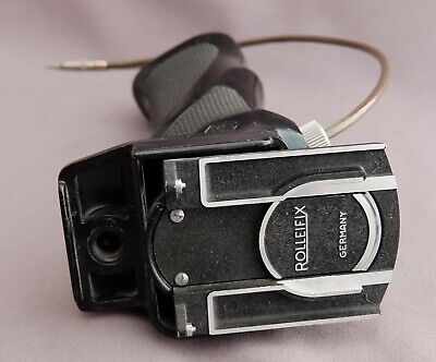 Vintage Rolleiflex Rolleifix TLR camera grip with quick release & cable release