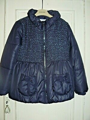 Mayoral girls jacket with s,mall hidden hood, size 8 years